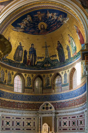 ecclesiastical: The Papal Archbasilica of St. John Lateran is the cathedral church and the official ecclesiastical seat of the Bishop of Rome, who is the Pope. Apse mosaic