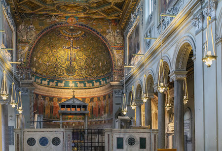 The Basilica of Saint Clement is a Roman Catholic minor basilica dedicated to Pope Clement I located in Rome, Italy. Interior of the church Editorial