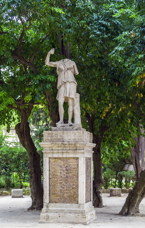 previously: Statue in garden of Villa Celimontana (previously known as Villa Mattei) on the Caelian Hill in Rome, best known for its gardens. Editorial