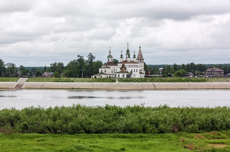 veliky: view of the river and the church Demetrios in Veliky Ustyug, Russia