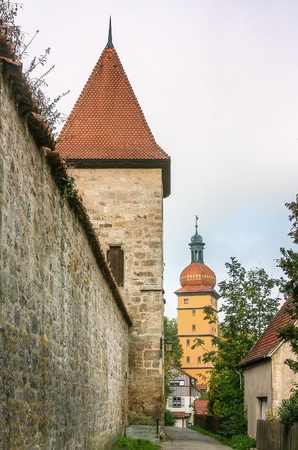 place of interest: wall around Dinkelsbuhl city is one of the best-preserved medieval urban complexes in Germany. Editorial