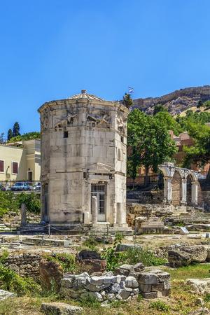 octogonal: La Torre de los Vientos es un octogonal torre del reloj de mármol del Pentélico en el ágora de Atenas