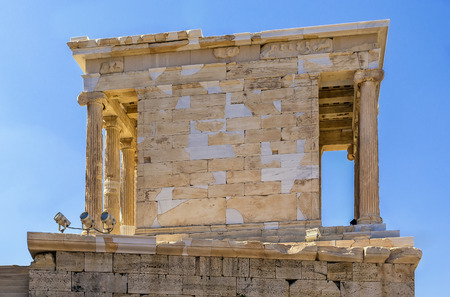 earliest: The Temple of Athena Nike is a temple on the Acropolis of Athens. Built between 427 and 424 BC, the temple is the earliest fully Ionic temple on the Acropolis