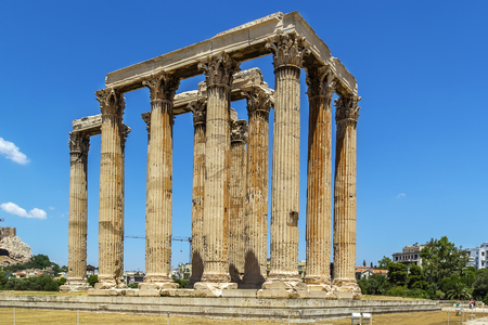 colossal: The Temple of Olympian Zeus is a colossal ruined temple in the centre of the Greek capital Athens that was dedicated to Zeus