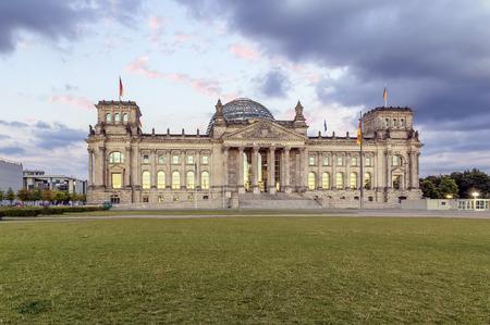 edifice: The Reichstag building is a historical edifice in Berlin Stock Photo