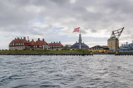 commissions: The Royal Danish Naval Academy educates and commissions all officers for the Royal Danish Navy. Stock Photo