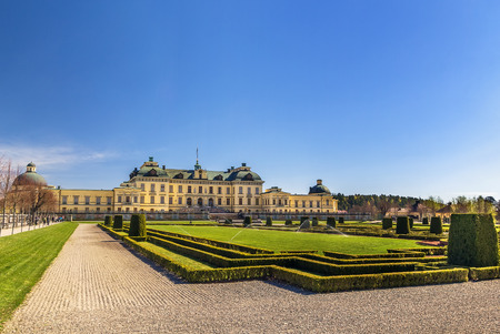 The Drottningholm Palace is the private residence of the Swedish royal family in Stockholm, Sweden