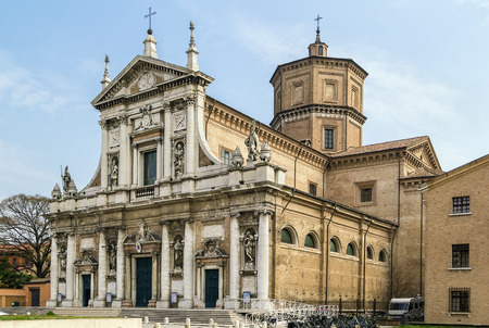 ravenna: The basilica of Santa Maria in Porto (16th century), with a rich facade from the 18th century in Ravenna, Italy Stock Photo
