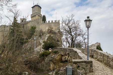 11th century: First tower or Fortress of Guaita is the oldest of the three towers constructed on Monte Titano, and the most famous. It was built in the 11th century. San Marino
