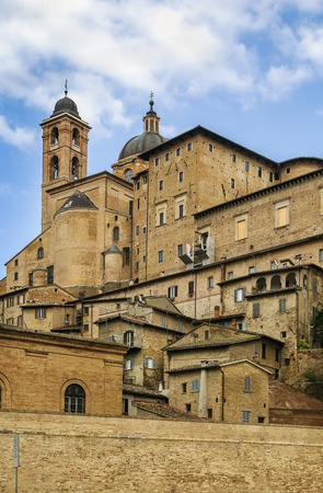 urbino: view of Urbino with Ducal Palace, Italy