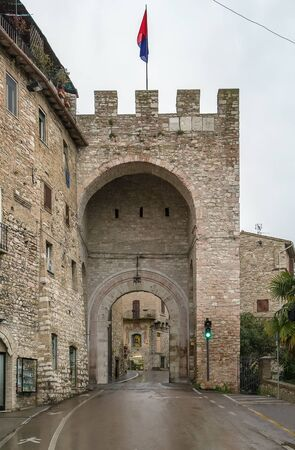 assisi: gate in the wall of Assisi, Italy