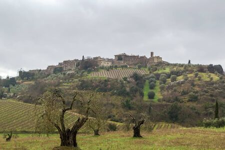 antimo: landscape surroundings of Abbey of Sant Antimo, Tuscany, Italy