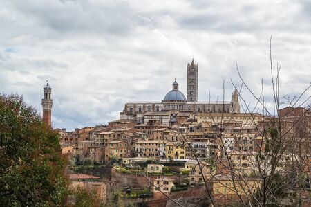 siena: view of Siena with Siena Cathedral, Italy