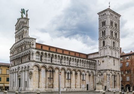 or san michele: San Michele in Foro is a Roman Catholic basilica church in Lucca,Italy