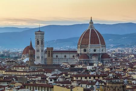 Blick auf den Dom von Florenz von Michelangelo Hügel, Italien