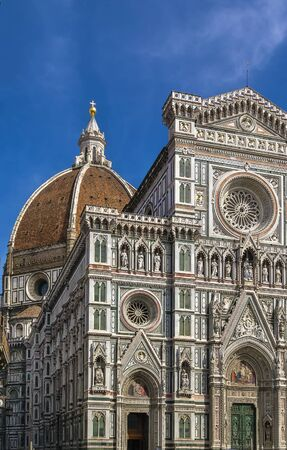 cattedrale: The Cattedrale di Santa Maria del Fiore (Cathedral of Saint Mary of the Flower) is the main church of Florence, Italy
