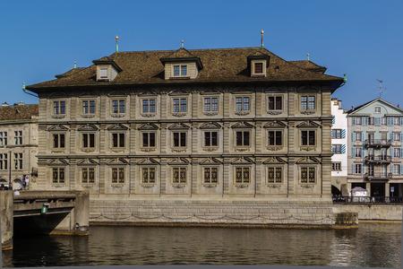 The Zurich town hall is the Rathaus of Zurich, Switzerland.It was built in 1694-1698 Stock Photo
