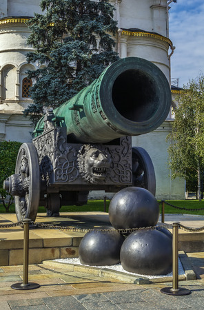 tsar: The Tsar Cannon is a large, 5.94 metres (19.5 ft) long cannon on display on the grounds of the Moscow Kremlin.  It was cast in 1586 in Moscow Editorial