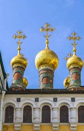 saviour: The Upper Saviour Cathedral in Moscow Kremlin, Russia