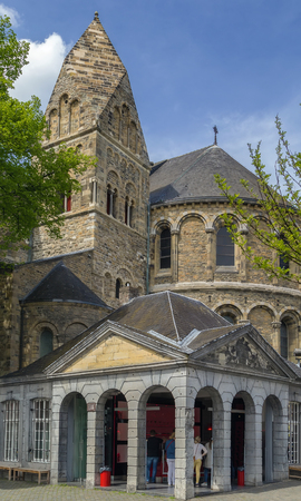 the church of our lady: The Basilica of Our Lady is a Romanesque church in the historic center of Maastricht, Netherlands