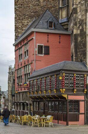 rathaus: Ratskeller restaurant in Gothic Aachen Rathaus (city hall), Germany