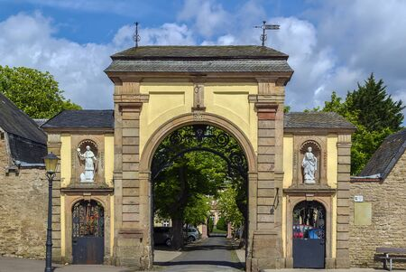 entrance gate to the Steinfeld Abbey, Germany