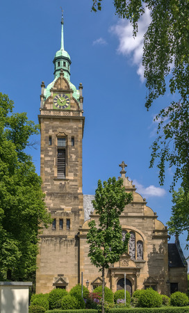 protestant: Built in 1903, the Evangelische Lutherkirche is a protestant church in Bonn, Germany Stock Photo