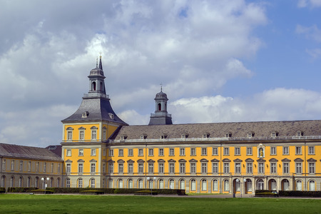 campus tour: main building of the University of Bonn is former  Princes palace, Germany