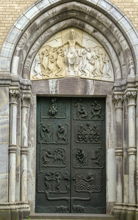 consecrated: St. Kunibert is the youngest of the Twelve Romanesque churches of Cologne and was consecrated 1247. Portal