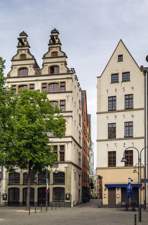 reconstituted: reconstituted historic home in the center of the city of Cologne, Germany
