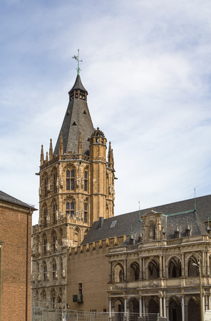 historical building: The City Hall is a historical building in Cologne, Germany Stock Photo