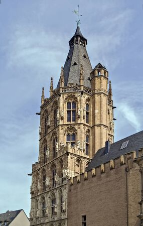 historical building: The City Hall tower is a historical building in Cologne, Germany