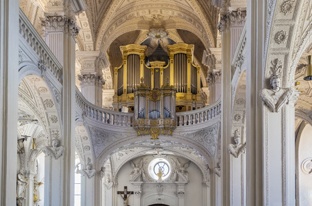 st german: The Church of St. Andreas is a Roman Catholic monastery church situated in the center of the German city of Dusseldorf. Interior Editorial