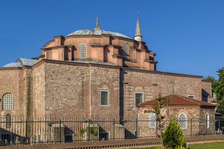 bacchus: Little Hagia Sophia is a former Eastern Orthodox church dedicated to Saints Sergius and Bacchus in Constantinople, converted into a mosque during the Ottoman Empire.