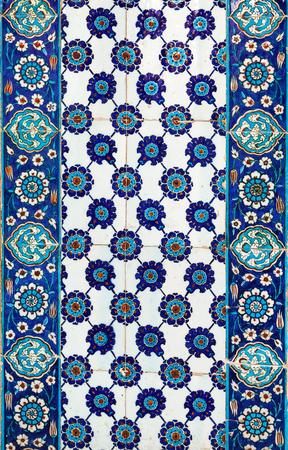 turkish: the Turkish ceramic tiles from Rustem Pasha Mosque, Istanbul