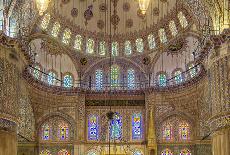 blue mosque: The Sultan Ahmed Mosque known as the Blue Mosque is an historic mosque in Istanbul. Interir