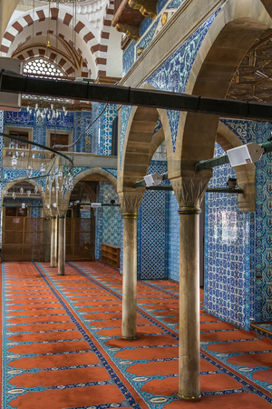 ancient architecture: Interior of The Rustem Pasha Mosque is a 16th-century Ottoman mosque, Istanbul
