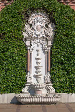 hamam: Hurrem Hamam Fountain near Baths of Roxelana, Istanbul Stock Photo