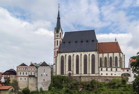 church buildings: St. Vitus Church  is one of two main dominants of Cesky Krumlov, Czech republic