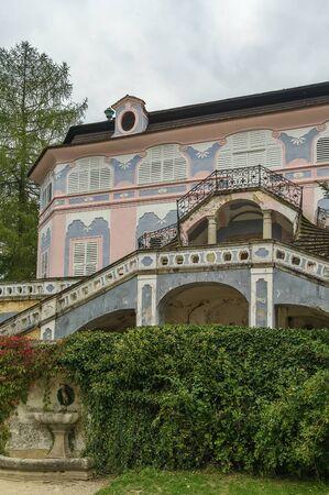 summerhouse: Summer-house Bellarie built in the Rococo style is located in the castle garden in Cesky Krumlov, Czech republic Editorial