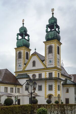 pilgrimage: The Pilgrimage Church Mariahilf in Passau, Germany Stock Photo