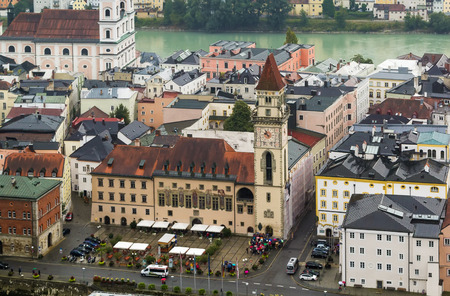 old town hall: view of Altes Rathaus (Old Town Hall) in Passau, Germany Stock Photo