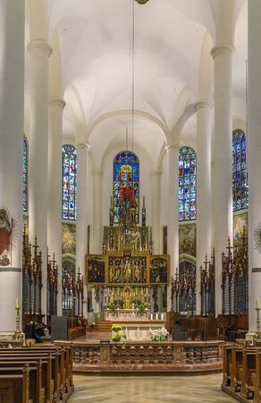jacob: interior of  Basilica of St. Jacob in Straubing, Germany