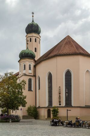 jesuit: Former Jesuit Church in Straubing city center, Germany