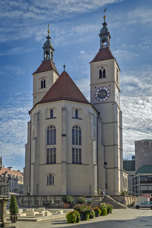regensburg: New Parish Church (Neupfarrkirche) is Protestant church in the old town of Regensburg, Germany