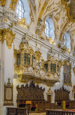 rococo: Old Chapel in Regensburg is the best example of Bavarian rococo style, Germany. Interior