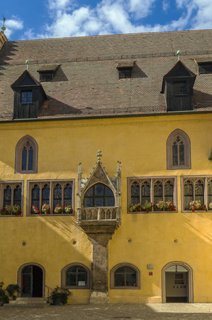 old town hall: Old Town Hall with bay window in Regensburg, Germany Stock Photo