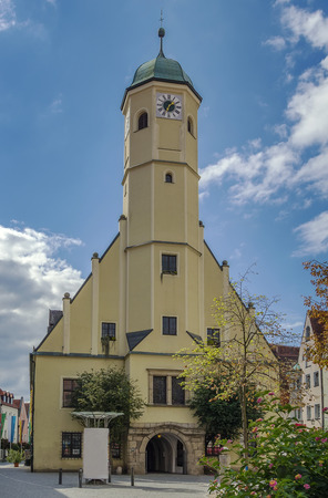 old town hall: Old Town Hall in main square in Weiden in der Oberpfalz, Germany