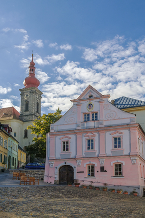 nad: Town hall and church in Becov nad Teplou
