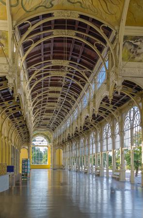 colonnade: Main Spa Colonnade in Marianske Lazne. Neo-Baroque colonnade was built between 1888 and 1889. Czech republic